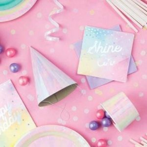 iridescent party hats